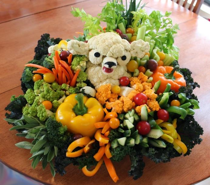 Easter Veggie Platter Lamb